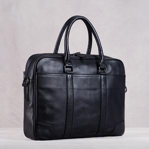 HBP Echtes Leder Männer Handtasche Mann Tasche Aktentasche Business Schulter Große Kapazität Crossbody 15,6 Zoll Laotop Bürobeutel