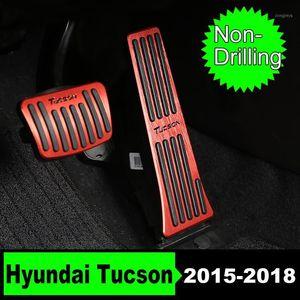 Pedallar Delme Olmayan Araba Hızlandırıcı Gaz Yakıt Freni Debriyaj Ayak Pedalı Kapak Kılıfı için Tucson 2021 Aksesuarları1