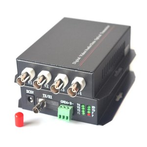 4 channels Video Fiber Optical Media Converters - ST connector ,Transmitter and Receiver, Singlemode up 20Km and multimode 2km