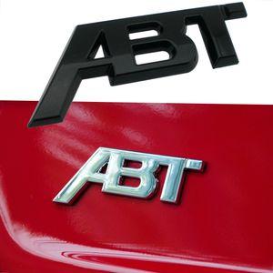 Per AUDI A1 A3 A4 A5 A8L S1 S4 S5 S6 Q5 Q5 QS7 TT RS3 SQ2 RS6 RS7 SQ7 RS4 RS5 SQ8 Metal ABT Logo Badge 3D Trim Sticker Accessori