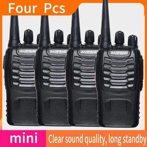 4 PCS baofeng walkie talkie Walkie-talkies Radio station Two-way car radio cheap Portable for hunting communication