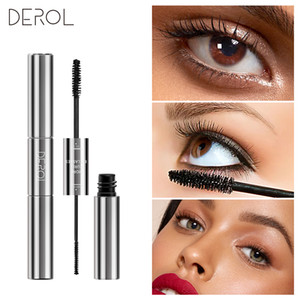 DEROL Double Head Mascara Grafted Grow Waterproof Warm Water Eye Lashes Extension Maquiagem Profissional Completa 0259