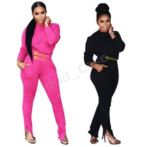 Designers Women Winter Tracksuit Long Sleeve Tops Sweater Hoodies + Legging Pants Two-piece Suit Clothing Sports Outfits F101904