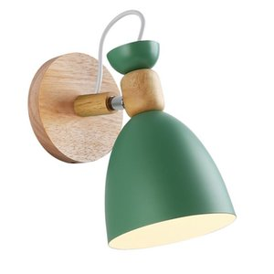 Nordic creative simple solid wood wall lamp living room led wall light staircase hotel aisle bedroom bedside sconce lamp