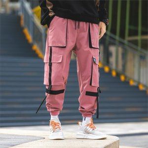 Autumn Men's Cargo Pants high quality Polyester Hip Hop Casual pants Multi-pocket Tassel Teen fashion Loose cargo trousers Men 0930