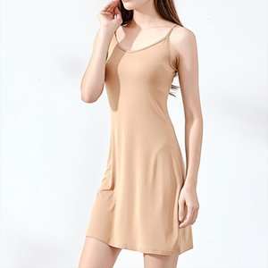 Women Summer Dress Casual Solid Spaghetti Strap Short Smooth Sleeveless Dress Womens Under Ladies Clothing Dresses designer clothes
