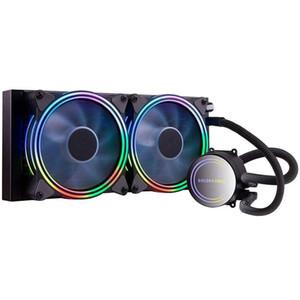 GOLDEN FIELD ICE Холод Серия процессора Cooler с двойным 120мм Регулируемое RGB PWM Fan 240mm Радиатор охлаждения воды Cooler системы