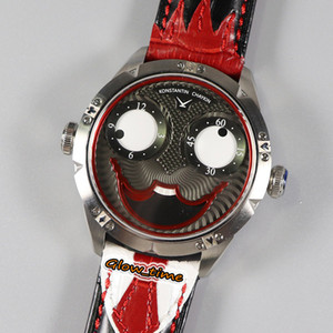 TWF V3S Upgrade version Konstantin Chaykin True Moon Phase Joker Dial NH35A Automatic Mens Watch CNC Steel Case Tie Pattern Strap Watches