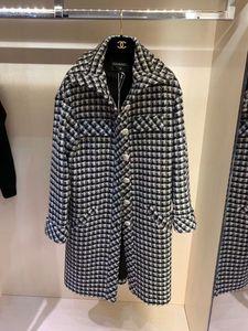 2020 Milan Runway Trench Coats-Revers-Ausschnitt Langarm Marke Same Stil Trench Coats Frauen Designer Mäntel 1015-1018