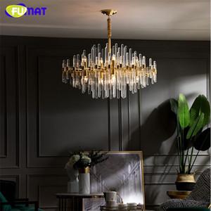 FUMAT الحديثة LED الثريا الكريستال الثريا النحاس الشمال لغرفة المعيشة بسيطة غرفة الطعام مصباح فيلا فاخرة مصباح الديكور
