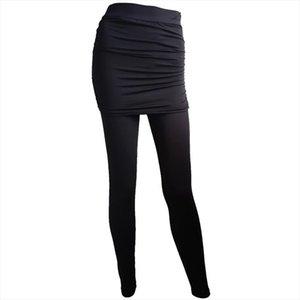 20 Women Skirt Leggings Sport Women Fitness Leopard Print Hip Side Creased Skirts Jeggings Winter Casual Stretch Slim Leggings