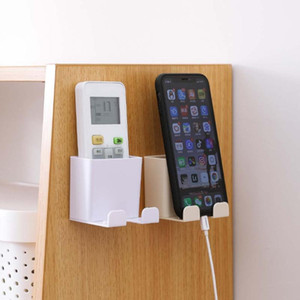 Hängende Fernbedienung Mobiltelefon Halterung Aufbewahrungsbox Kein Loch Switch Shelf Badezimmer Organizer Küchenträgerhalter # 25