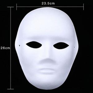 300pcs Beyaz El boyaması Maskeler Tam Yüz Cadılar Bayramı Boş Kağıt DIY Kadınlar Erkekler Pulp Noel Partisi Hediye ZA4618 ba4c # Maskesi