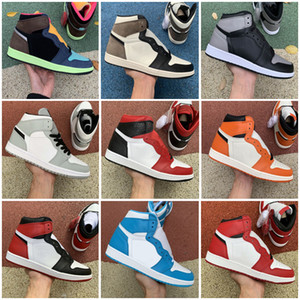 High Night Moka Jumpman 1 1S og High Bio Backboard Backboard Backboard Mens Basketball Chaussures Black Pale Athletic Sneakers Taille 36-47
