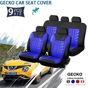 Universal Fashion Styling Full set Gecko Car Seat Protector Auto Interior Accessories Automotive Car Seat Cover Cushion Tool1