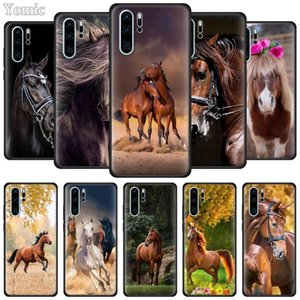 Horse Animal Silicone Case for Huawei P40 P30 P20 Lite Pro P Smart Plus 2019 Enjoy Z Black Soft Mobile Phone Cover TPU Coque