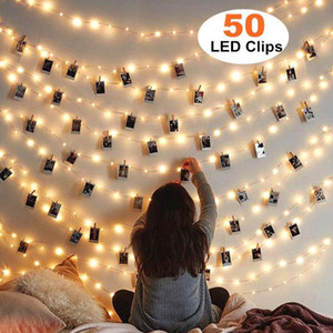 Photo Clips String Lights with Clip for Hanging Photos Pictures Cards Memos Dorm Bedroom Wall Decor Wedding Party Decorations