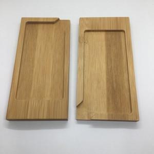 Son Doğal Bambu Ahşap Taşınabilir Mini Kuru Herb Tütün Preroll Sigara Rolling Sigara Tepsi Dolum Portu Bulaşık Plakası DHL Ücretsiz