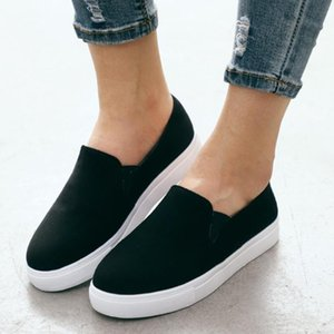 Womens Summer Canvas Flat Running Shoes Summer Beach Shoes Casual Single Lady platform sneakers zapatos de mujer