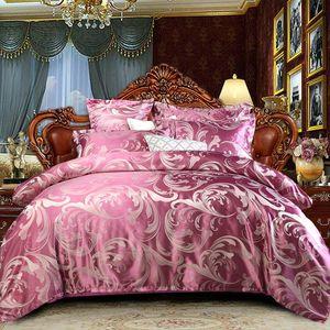 Conjunto de hojas de cama Satin Ropa de cama para el hogar Duvet Funda 220x240 colchas Euro Doble seda almohada Funda Textil Luxury Dormitorio Edredón
