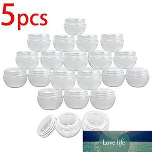 5pcs 5g 10g 20g 30g Macaron Plastic Sample Jars Pots Cream Lotion Travel Translucent Containers Liquid Lip Balm with Gasket
