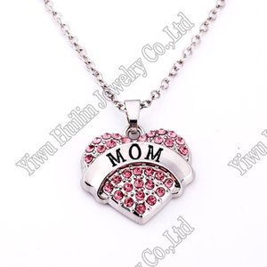 1*1 inch 5pcs a lot Heart Love Mom Necklaces & Pendants For Women Jewelry