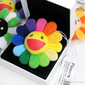 New Sunflowers Takashi Murakami Kiki Kaikai Brooch Rainbow Pin Badge Strap Plush Pendant Cute Free Shipping Factory