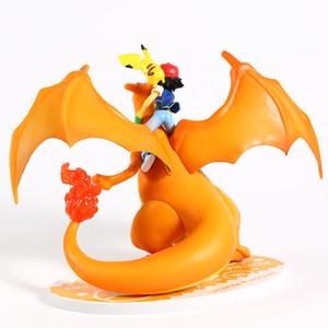 Аниме мультфильм Монстры Ash Ketchum Satoshi Charizard ПВХ Рисунок Коллекционная модель игрушки