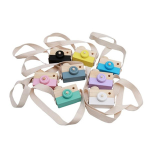 Wooden Toy Camera Baby Kids Hanging Camera Photography Prop Decoration Children Educational Toy Christmas Gifts Birthday ZYY422