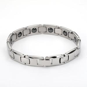 2020 Fashion Man Braccialetti Bracciali per uomo Bijoux Titanium 316L Gioielli in acciaio inox Terapia di fascino Braccialetto magnetico1