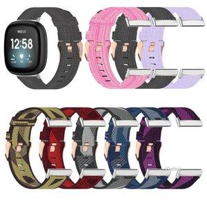 wholesale Universal Replacement Colorful Nylon Strap Watch Band for Fitbit Versa 3   Sense Smartwatch Bracelet Men Women wholesale