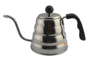 BYUAN HOME MFC21 Hochwertige 1000 ML Design Edelstahl Kaffee Werkzeuge Espresso Auslauf Wasserkocher Kaffee dripper Café Werkzeuge