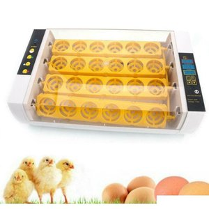 جديد التلقائي 24 رقيقة الرقمية الطيور البيض حاضنة هاتشر التحكم في درجة الحرارة H6COH