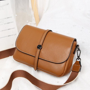 new versatile head soft cow leather bag leather women's bag double shoulder with single shoulder small wholesale