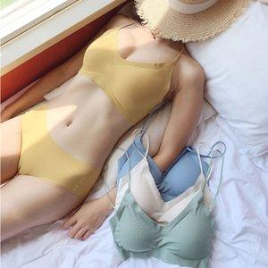 Ysansca de haute qualité coton Sous-vêtements Mode rayé Noble fille Lingerie Set Push Up Sets Sexy Bra et Panty