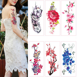 Waterproof Temporary Tattoo Stickers Totem Flower Fake Tattoo Flash Tattoo Body Art Hand Foot Tools For Girl Women