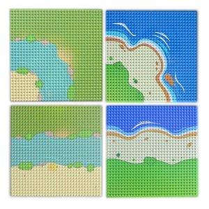 Baseplate Город Улица Красочный River Sandy Island Beach Base Plate Seaside Строительные блоки, которые поддерживаются Bricks Все бренды Для детей yxlJom