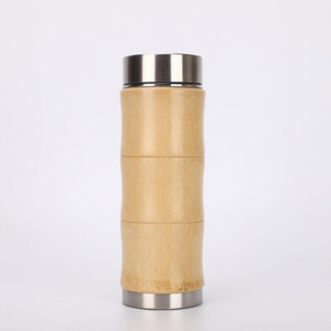 400мл Bamboo нержавеющей стали термосы для воды термосы путешествия чашки кофе Чай термального Thermocup