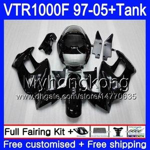 Body +Tank For HONDA SuperHawk VTR1000F 97 New black 98 99 00 01 05 56HM.39 VTR1000 F VTR 1000 F 1000F 1997 1998 1999 2000 2001 Fairings