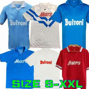 1986 1987 1988 1999 Napoli Retro Futebol Jerseys 87 88 89 91 93 Coppa Italia Napoli Maradona Vintage Calcio Clássico Vintage Futebol Camisas