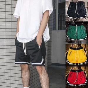 Shorts d'homme gymnase gymnase sport occasionnel sport européen de style américain dentelle basketball hip hip hip coton respirant shor1