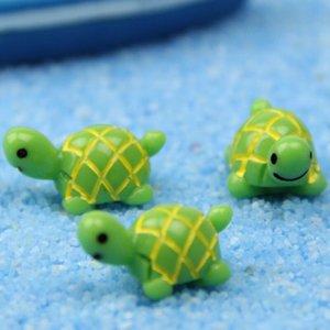 Зеленый Tortoise Украшение рабочего стола Craft аквариум Аксессуар Micro Пейзаж Мосс Экологические бутылки украшения Fairy Garden Материал GWB2099