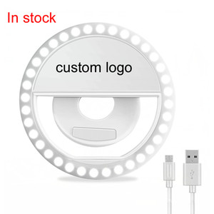 Amazon Hot Selling 36 LED Ring Light Rechargeable And Battery LED Selfie Flash Light Selfie Ring Light For Smartphones