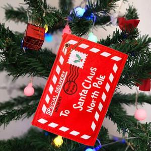 عيد الميلاد بطاقة مغلف حزمة لسانتا كلوز كاندي هدية حقيبة المال بطاقة هدية حامل شجرة حلية BWE1159