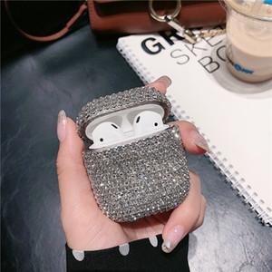 Fashion luxury diamond box airpod Pro box silicone protective case designer airpod Box Girl accessories lady EJT01