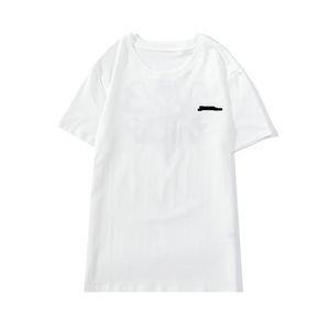 2021 mulheres e homens design t-shirt moda 2020 casual streetwear t-shirt bordado feminino t-shirt de alta qualidade preto e branco algodão s