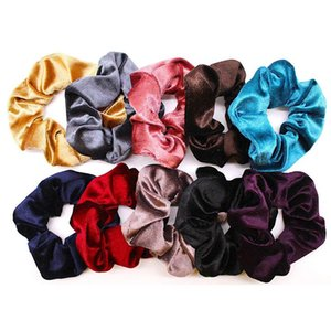 10 Pcs Velvet Elastic Hair personality casual Bands Scrunchy for Women Or Girls Hair Accessories high quality wholesale 20H