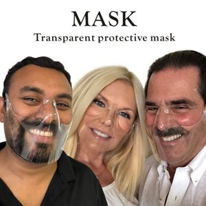 72-hour delivery, spot wholesale transparent mask plastic can be cleaned reusable design mask anti-fog and dust