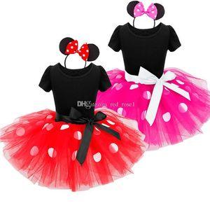 2018 New Kids Ballet Show Dress Princess Party Costume Infant Clothing Polka Dot Baby Clothes Birthday Girls tutu Dress with Headband