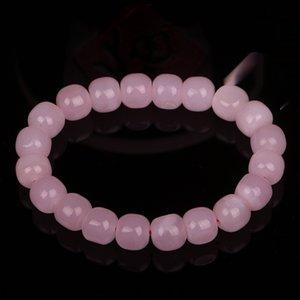 Gioielli Tian femmina branello mano stringa braccialetto perla Lotus polvere di radice di loto Qinghai materiale in polvere di radice vecchio perla forma giada bracele